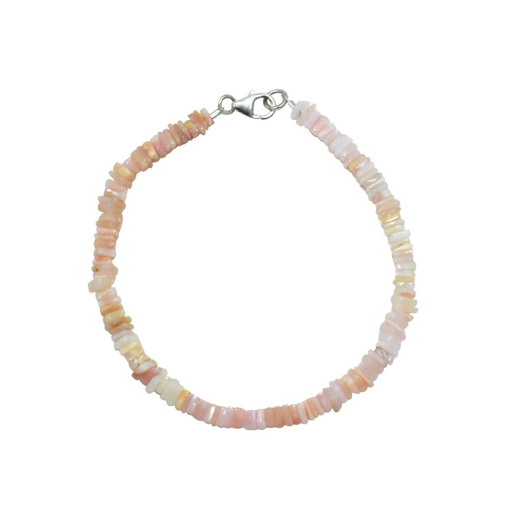 Firetti Armband »Eckiger Steinstrang, 4 mm breit, schimmernd«, mit Opal, Made in Germany