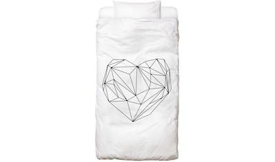 Bettwäsche »Heart Graphic«, Juniqe kaufen