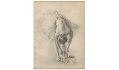 Artland Glasbild »Antike Ballerina Übung I« kaufen