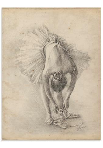 Artland Glasbild »Antike Ballerina Übung I«, Sport, (1 St.) kaufen