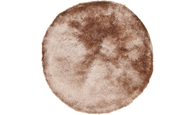 carpetfine Hochflor-Teppich »Breeze«, rund, 45 mm Höhe, besonders weich mit leichtem Glanz Garn, Wohnzimmer kaufen