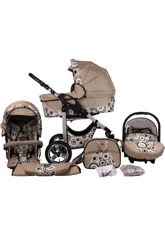 bergsteiger Kombi-Kinderwagen »Capri, beige circles, 3in1«, 15 kg, Made in Europe kaufen