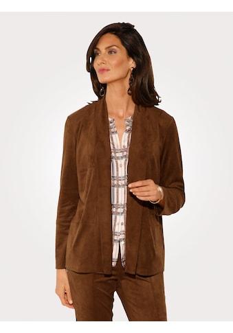 Mona Blusenjacke in handschuhweichem Lederimitat kaufen