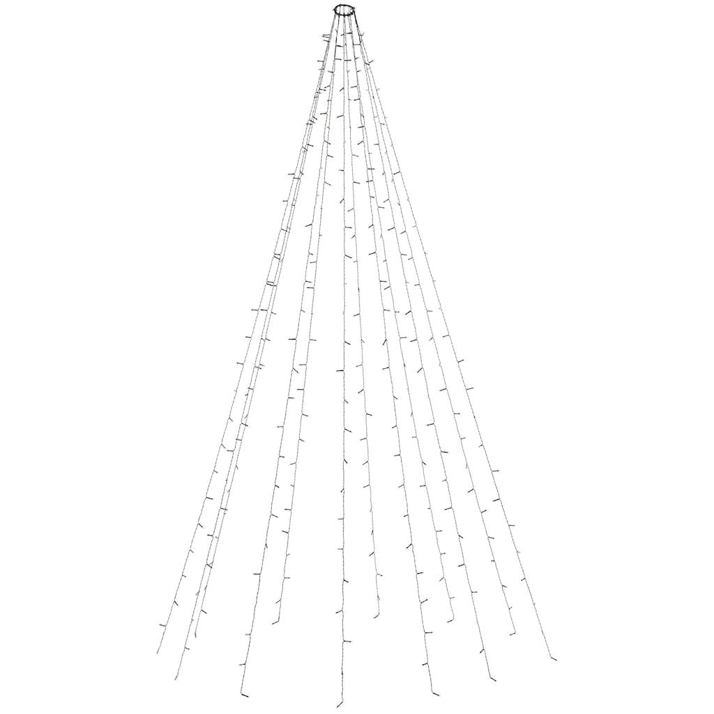 LED-Lichtervorhang, mit Timer