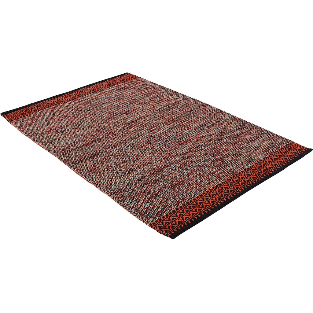 carpetfine Teppich »Kelim Mia«, rechteckig, 6 mm Höhe, Baumwolle Wendeteppich, Wohnzimmer