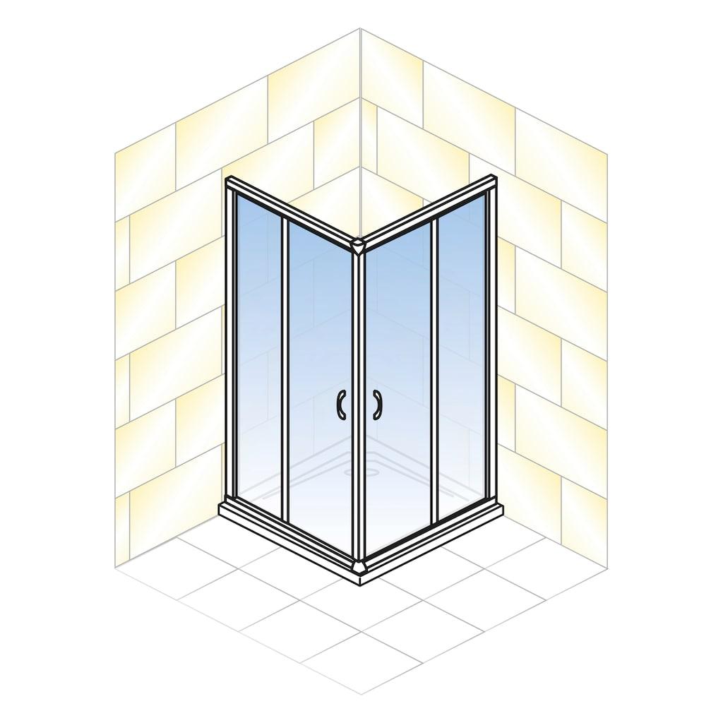 Schulte Eckdusche »Sunny«, Umlaufende Aluminium Profile
