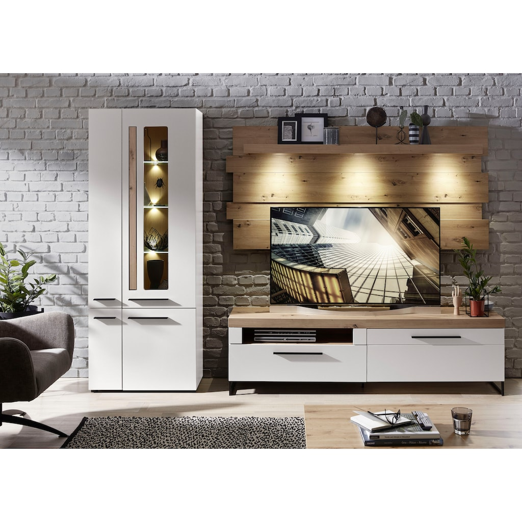 Innostyle Wohnwand »Loft Two«, (3 tlg.), inklusive LED-Beleuchtung