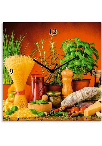 Artland Wanduhr »Mediterranes und italienisches Essen« kaufen