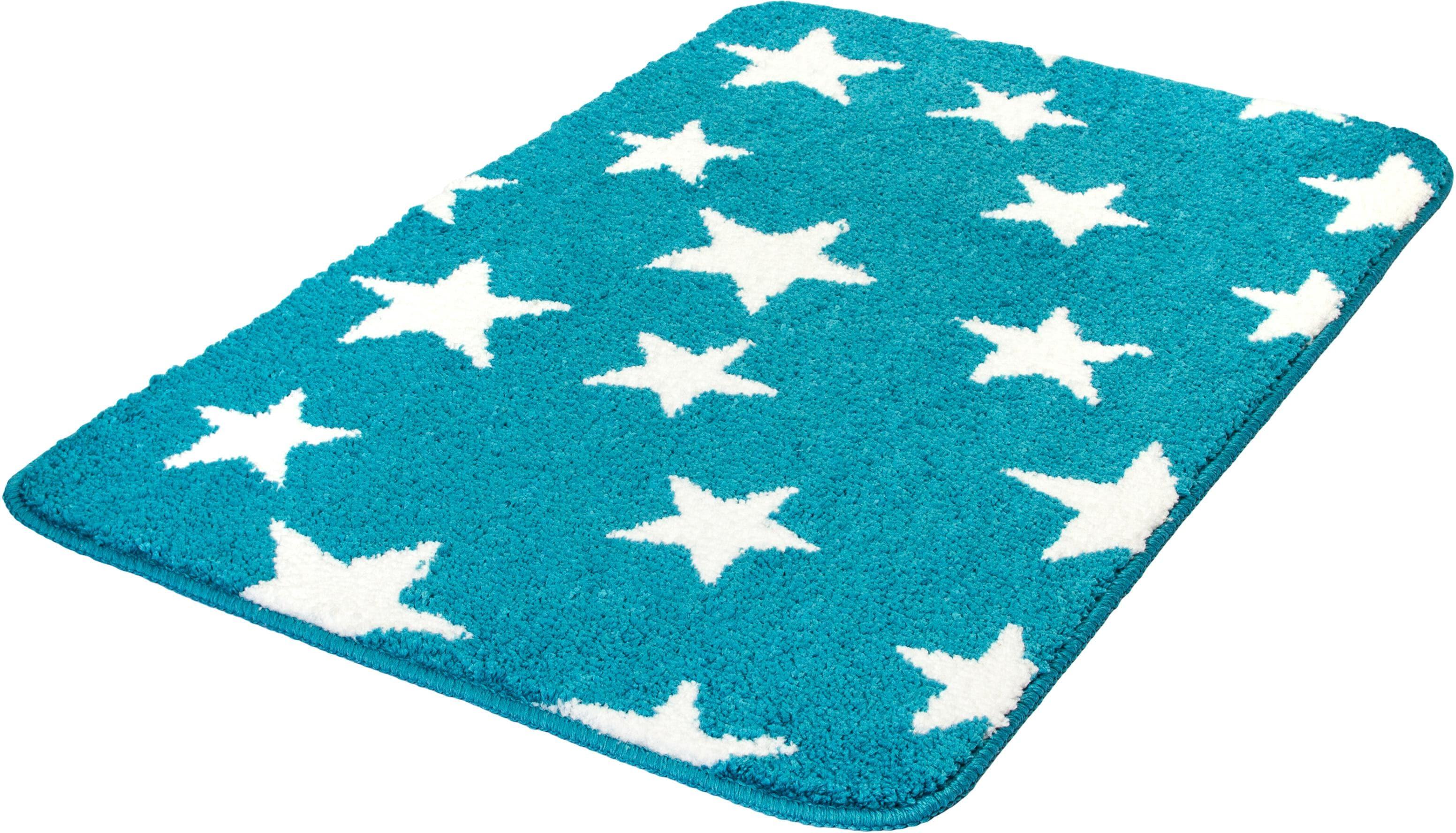 Badematte Stars MEUSCH Höhe 15 mm rutschhemmend beschichtet fußbodenheizungsgeeignet