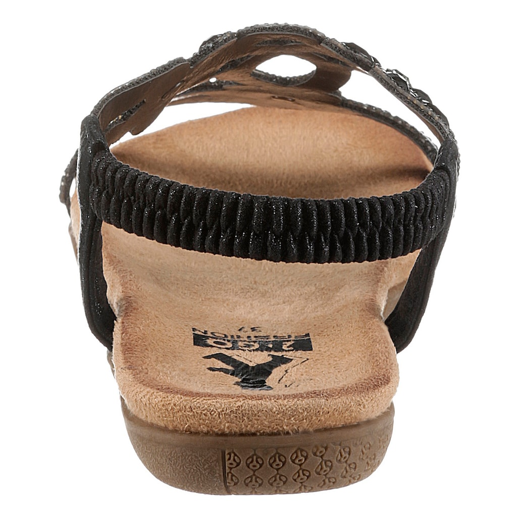 2GO FASHION Sandale, mit praktischem Gummizug