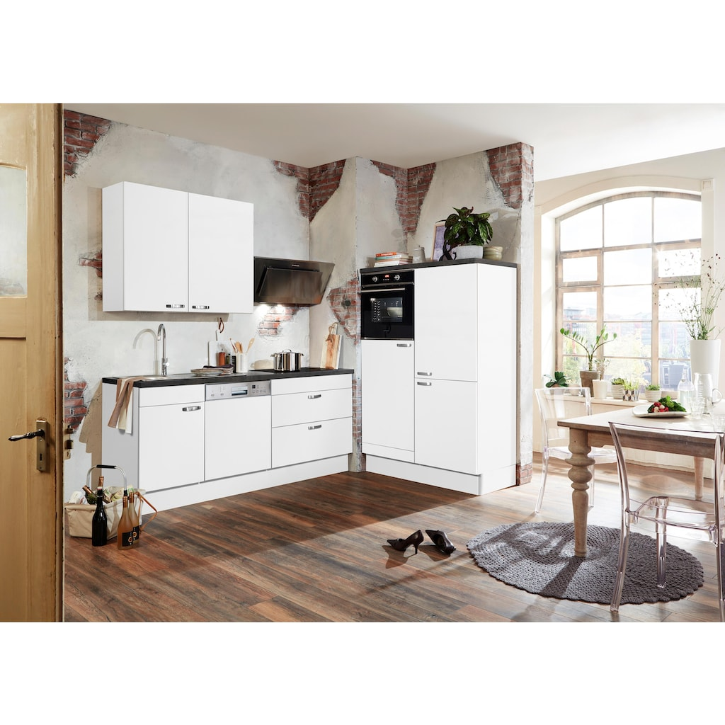 OPTIFIT Küchenzeile »Cara«, ohne E-Geräte, mit Vollauszügen und Soft-Close-Funktion, Breite 320 cm