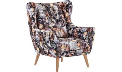 Leonique Ohrensessel »Louanne«, Edles Design in Samtbezug kaufen
