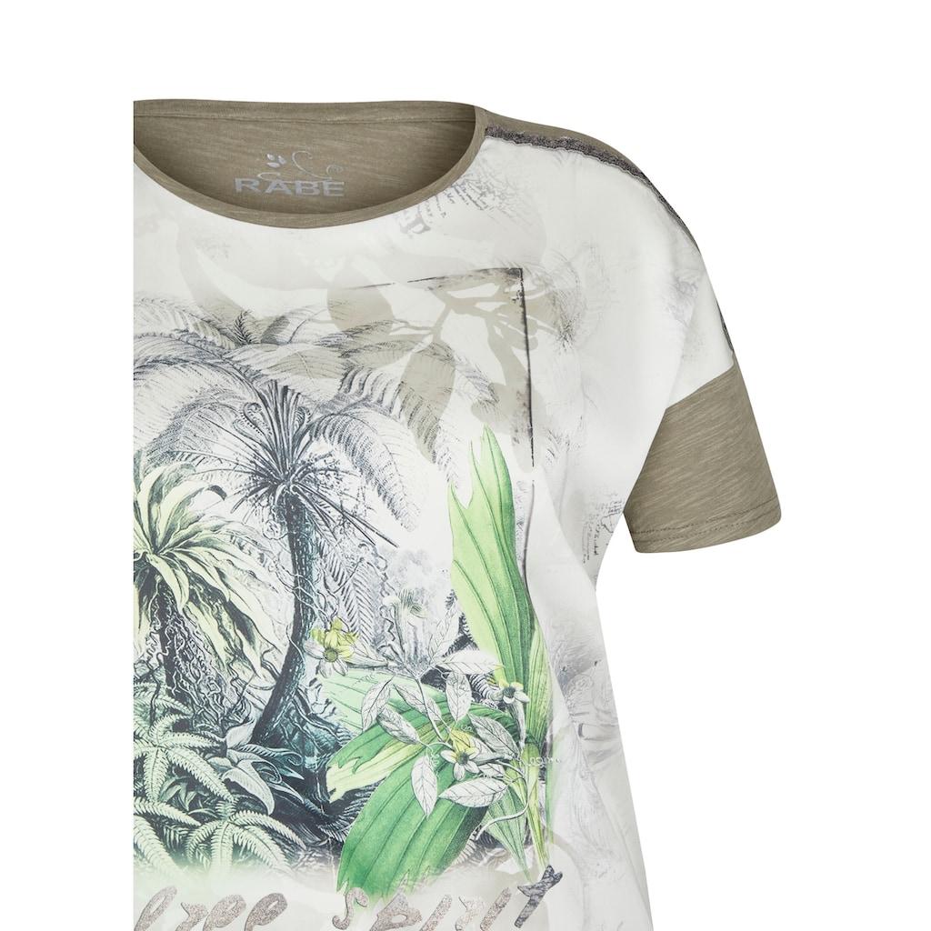 Rabe T-Shirt, mit floralem Muster und Rundhalsausschnitt