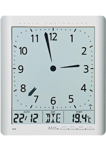 AMS Funkwanduhr »F5898«, mit Alarm kaufen