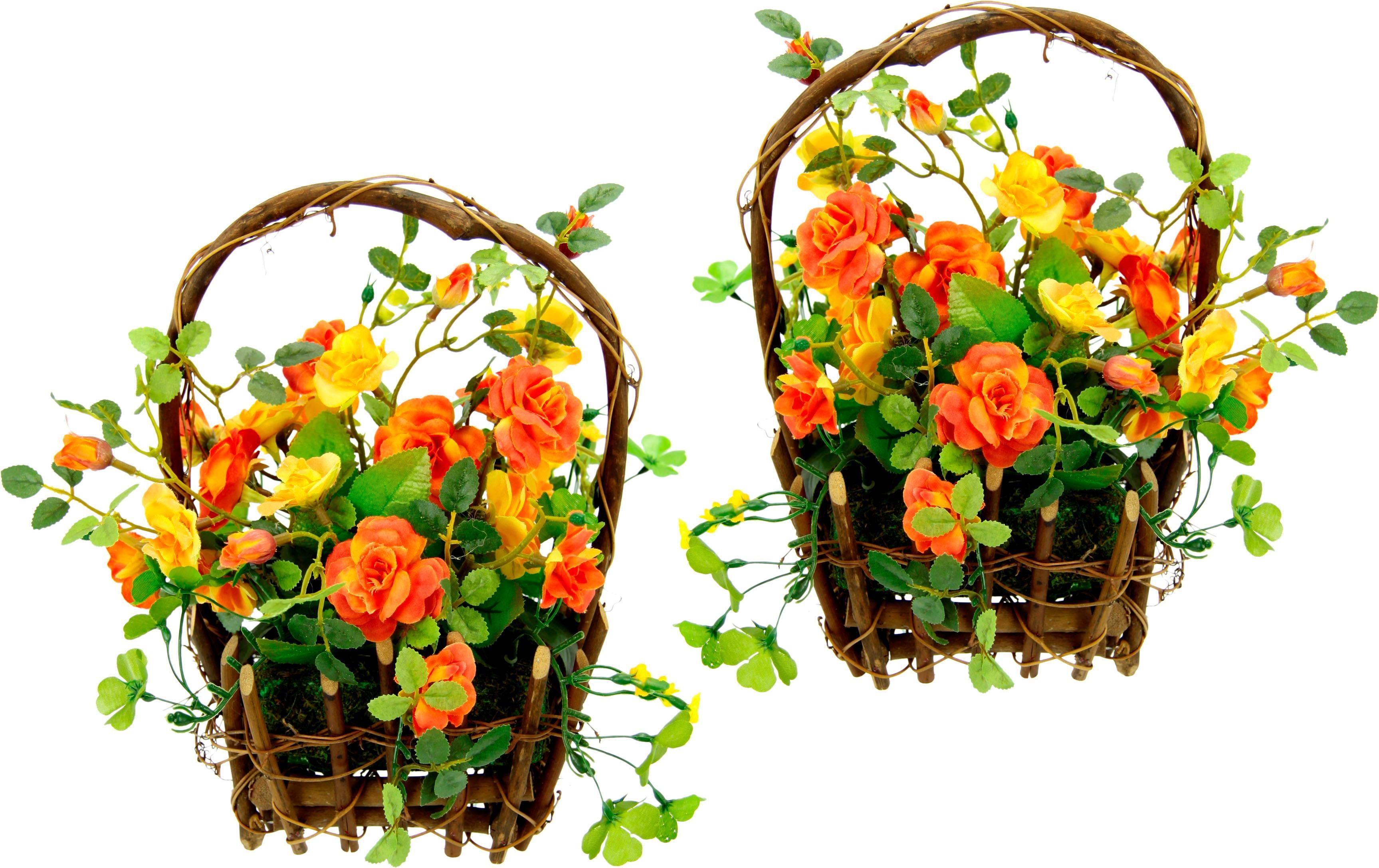 Kunstpflanze (Set 2 Stück)   Dekoration > Dekopflanzen > Kunstpflanzen   Orange