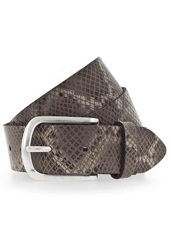 Vanzetti Ledergürtel, mit Schlangenmuster kaufen