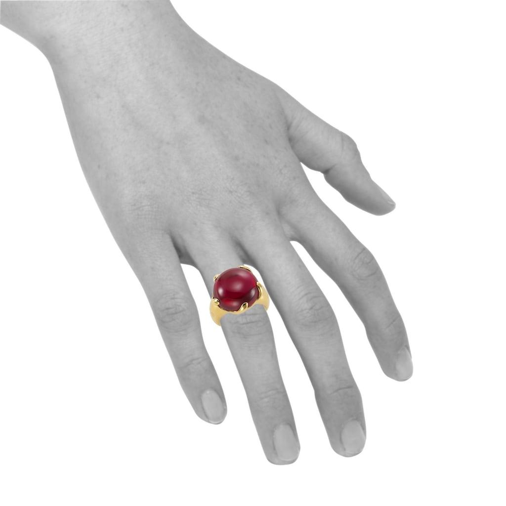 Jamelli Fingerring »925/- Sterling Silber vergoldet syn. Granat«, Ring