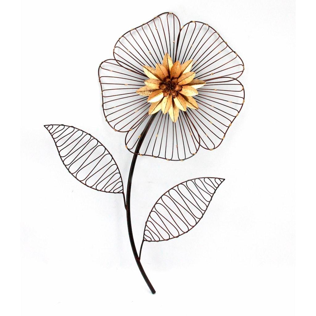 HOFMANN LIVING AND MORE Wanddekoobjekt »Wanddeko Blume«, Wanddekoration aus Metall