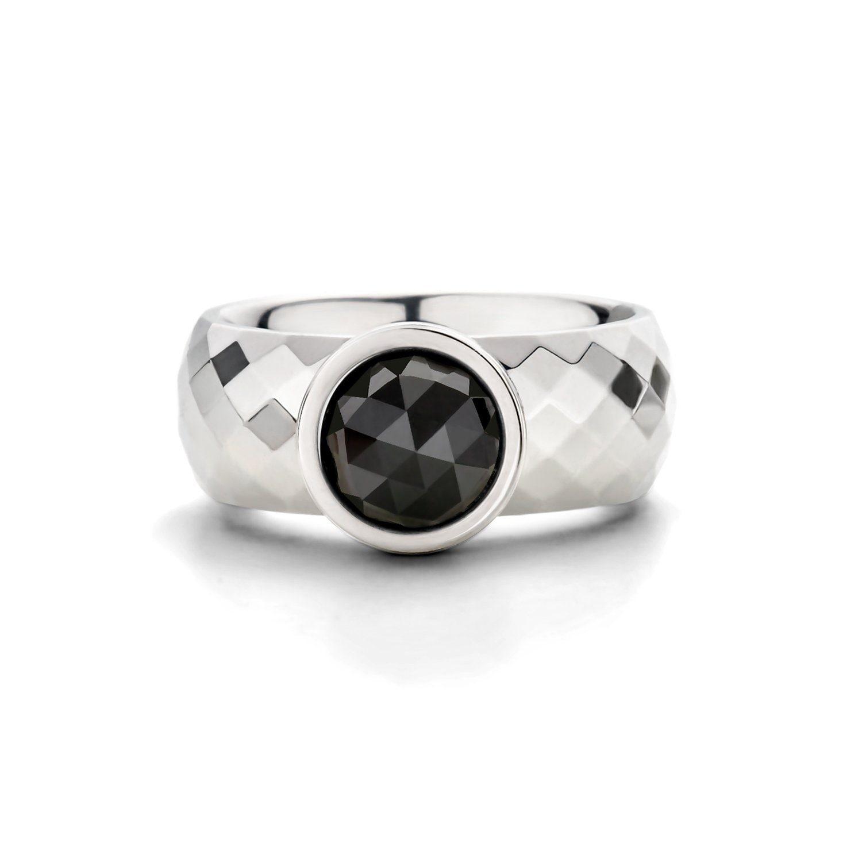 melano Ring mit geschliffener Struktur