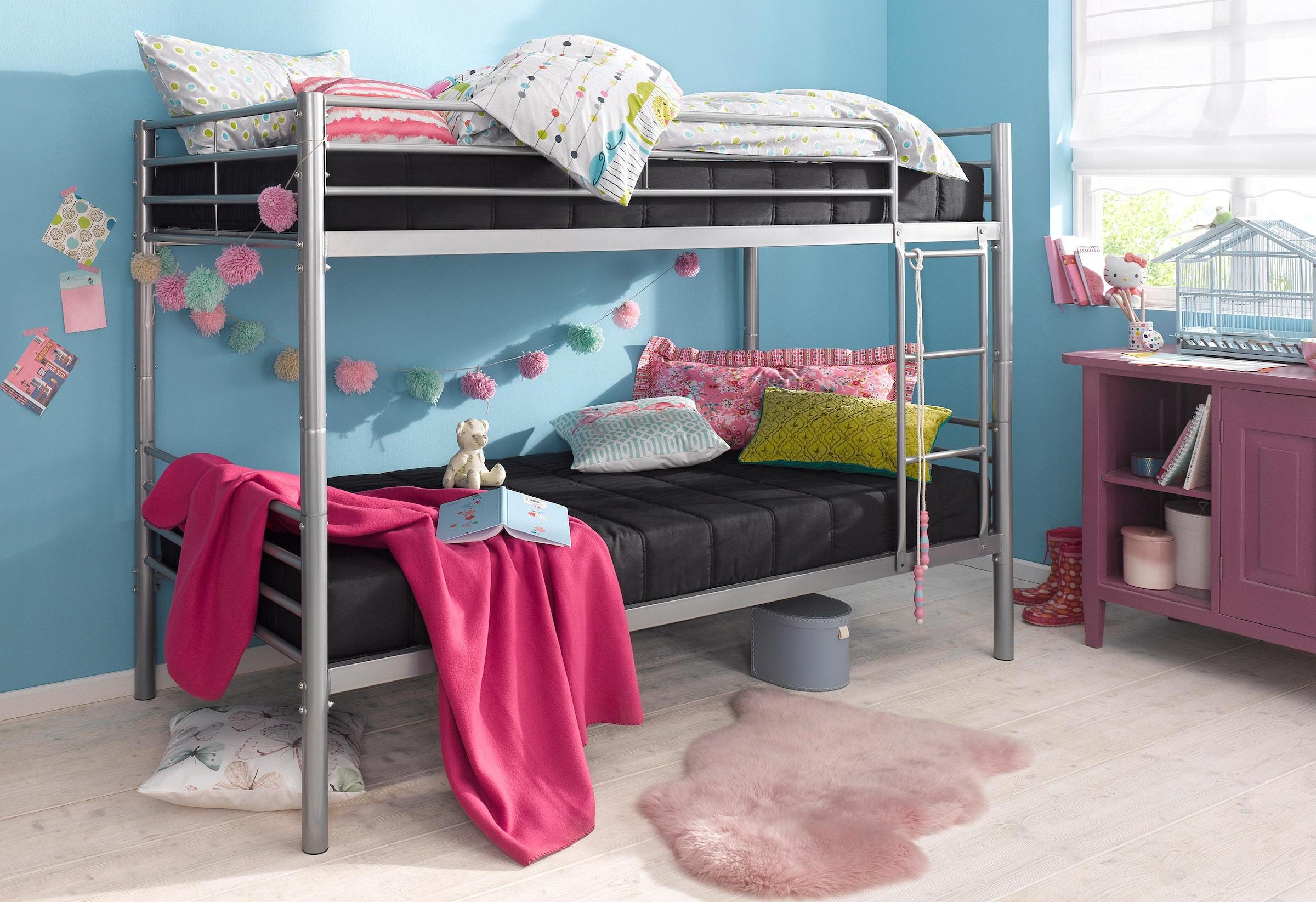 Etagenbett Metall Mit Couch : Hochbett aus metall mit couch online kaufen baur