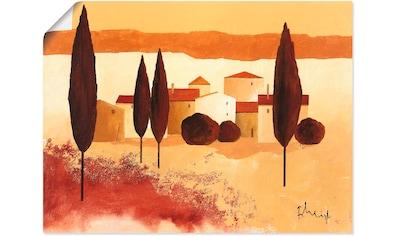 Artland Wandbild »Kleines Mediterranes Dorf«, Wiesen & Bäume, (1 St.), in vielen... kaufen