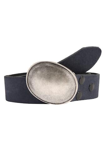 RETTUNGSRING by showroom 019° Ledergürtel, mit austauschbarer Oval-Schließe kaufen
