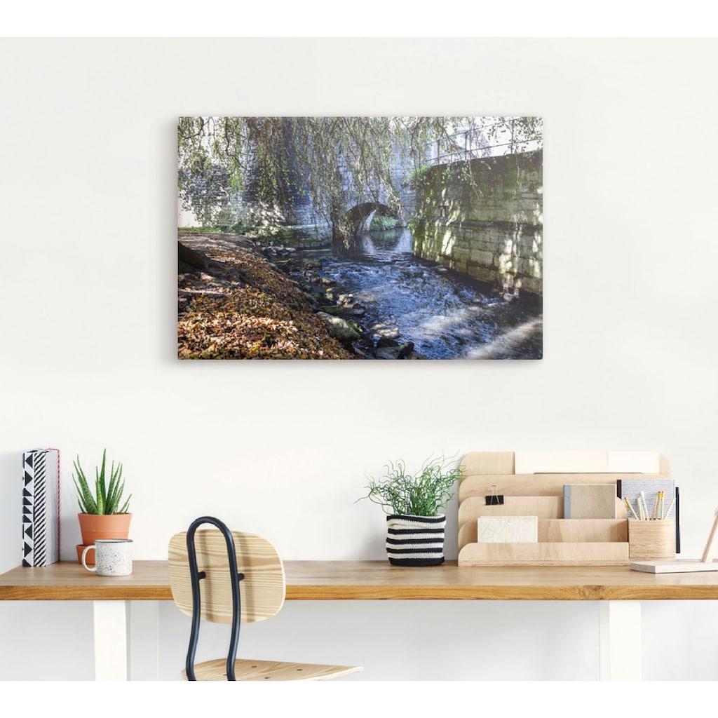 Artland Wandbild »Abendspaziergang«, Gewässer, (1 St.), in vielen Größen & Produktarten - Alubild / Outdoorbild für den Außenbereich, Leinwandbild, Poster, Wandaufkleber / Wandtattoo auch für Badezimmer geeignet