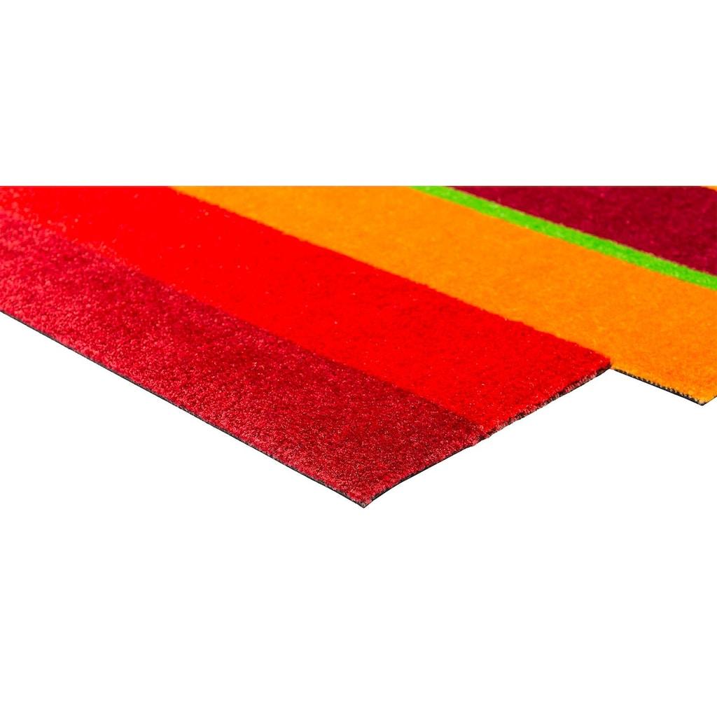 wash+dry by Kleen-Tex Läufer »Dancing Steps«, stufenförmig, 9 mm Höhe