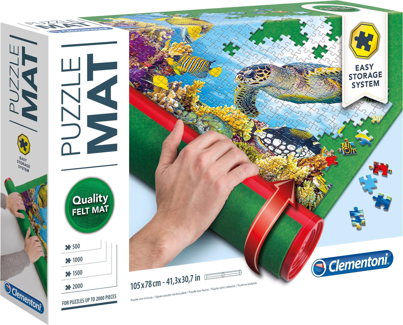 Clementoni Puzzleunterlage Baby - Puzzle Mat, zum Rollen grün Kinder Ab 6-8 Jahren Altersempfehlung