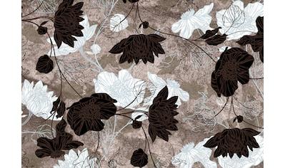 Consalnet Papiertapete »Brauner Blumen Mix«, floral kaufen