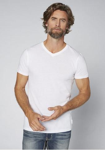 OKLAHOMA PREMIUM DENIM T - Shirt »Doppelpack unifarben« kaufen