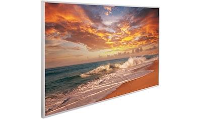 Papermoon Infrarotheizung »Sonnenuntergang Strand, EcoHeat«, Aluminium, 600 W, 100x60... kaufen