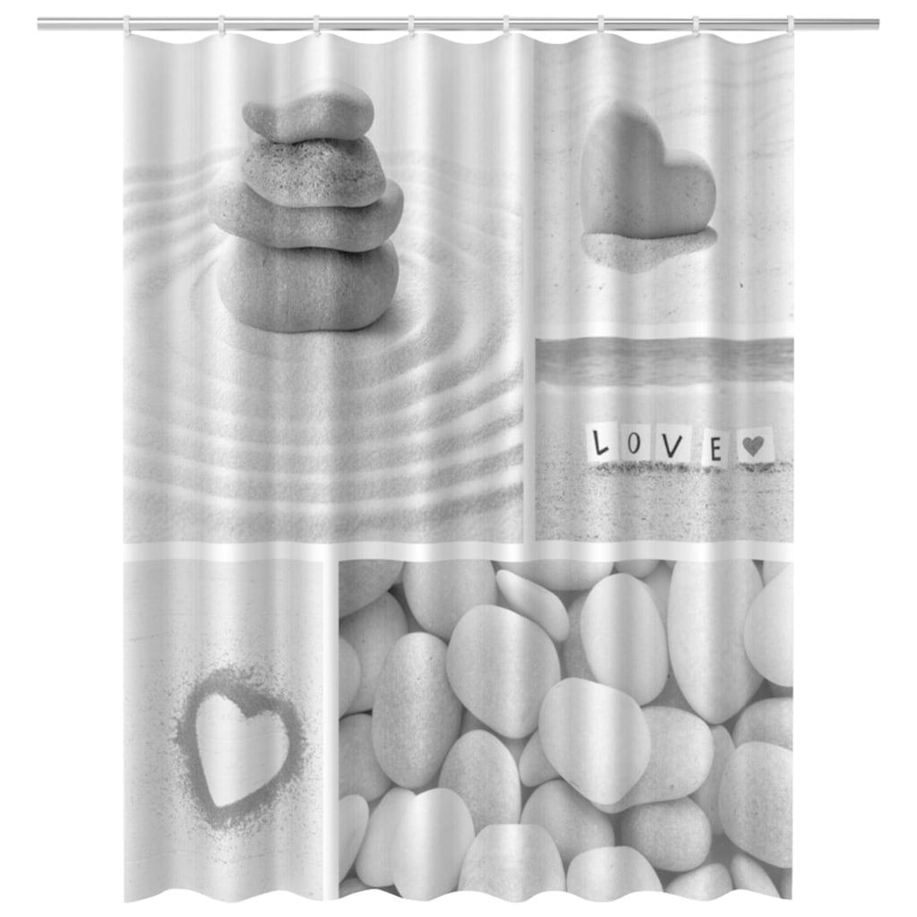 ADOB Duschvorhang, Breite 180 cm, Höhe 200 cm