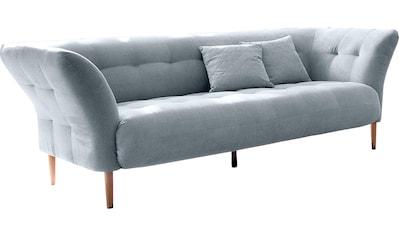 3C Candy 3-Sitzer »Trelleborg«, skandinavisches Design mit feiner Steppung und Holzfüßen kaufen