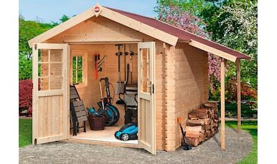 WEKA Set: Gartenhaus »Jens Gr.1«, BxT: 316x230 cm, inkl. Schleppdach, Fußboden und Fenster kaufen