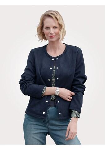 Mona Lederimitat-Blazer, in handschuhweicher Veloursqualität kaufen