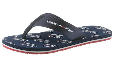 TOMMY JEANS Zehentrenner »TOMMY JEANS PRINT BEACH SANDAL« kaufen