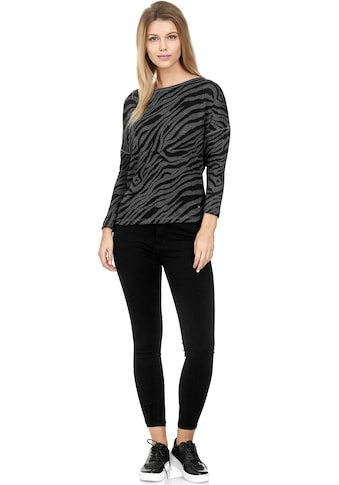 Decay Langarmshirt, mit coolem Zebra-Muster kaufen