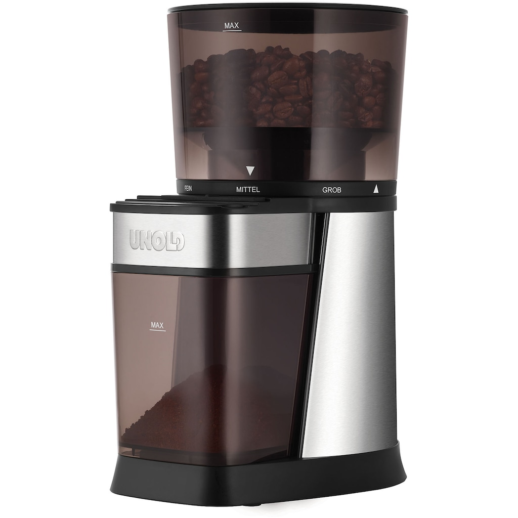 Unold Kaffeemühle »Edel 28915«, 150 W, Kegelmahlwerk, 250 g Bohnenbehälter