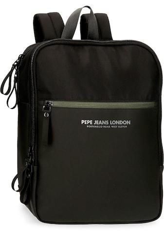 Pepe Jeans Laptoprucksack »Sail, schwarz«, mit USB-Anschluss kaufen