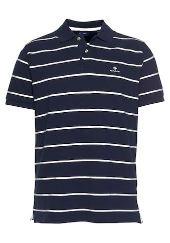 Gant Poloshirt »BRETON STRIPE PIQUE RUGGER«, im Streifen-Look kaufen