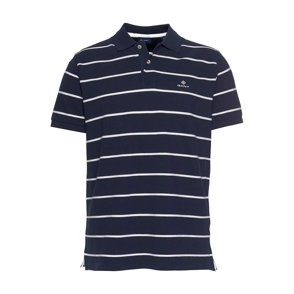 Gant Poloshirt »BRETON STRIPE PIQUE RUGGER«, im Streifen-Look