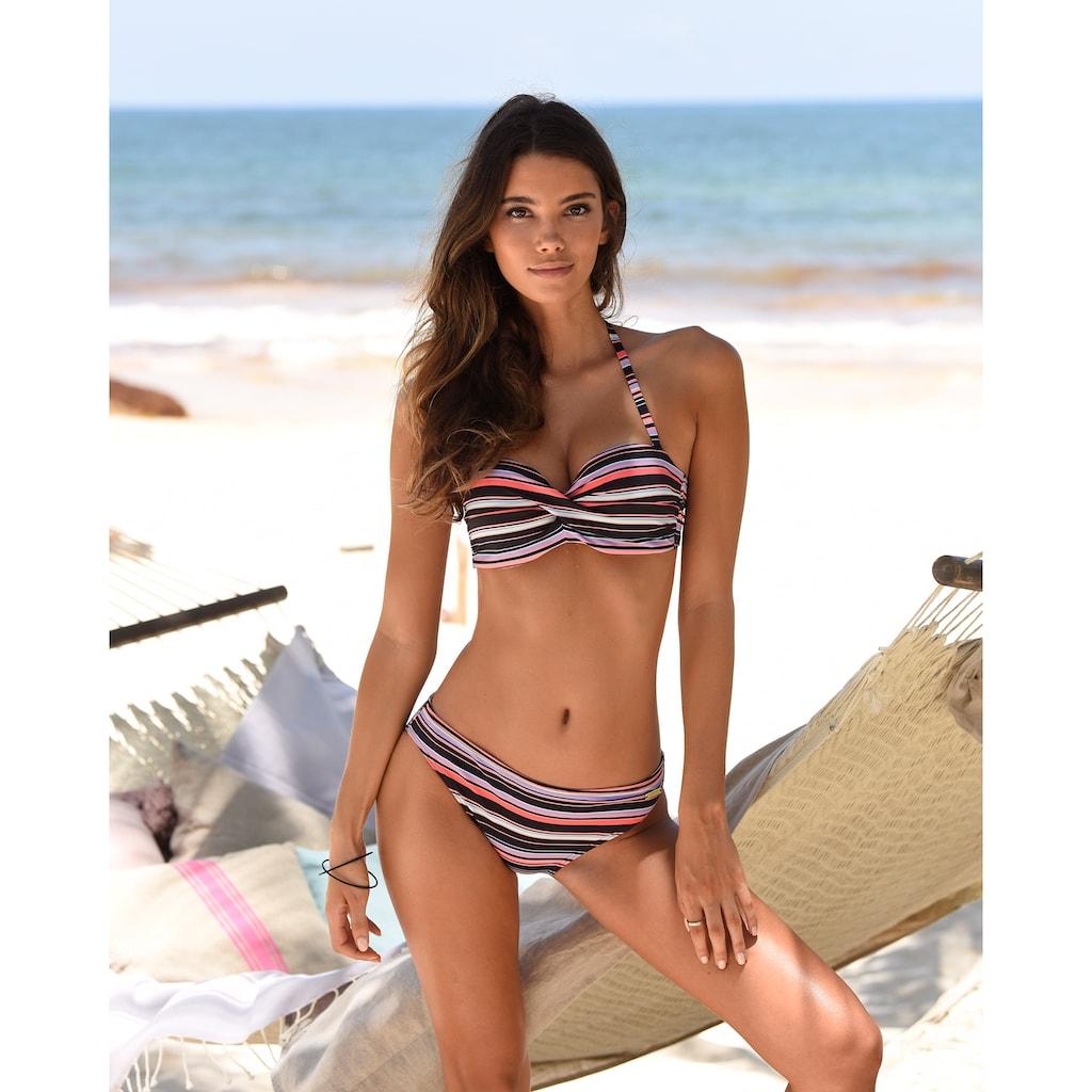 LASCANA Bügel-Bandeau-Bikini-Top »Voss«, mit Wickeloptik