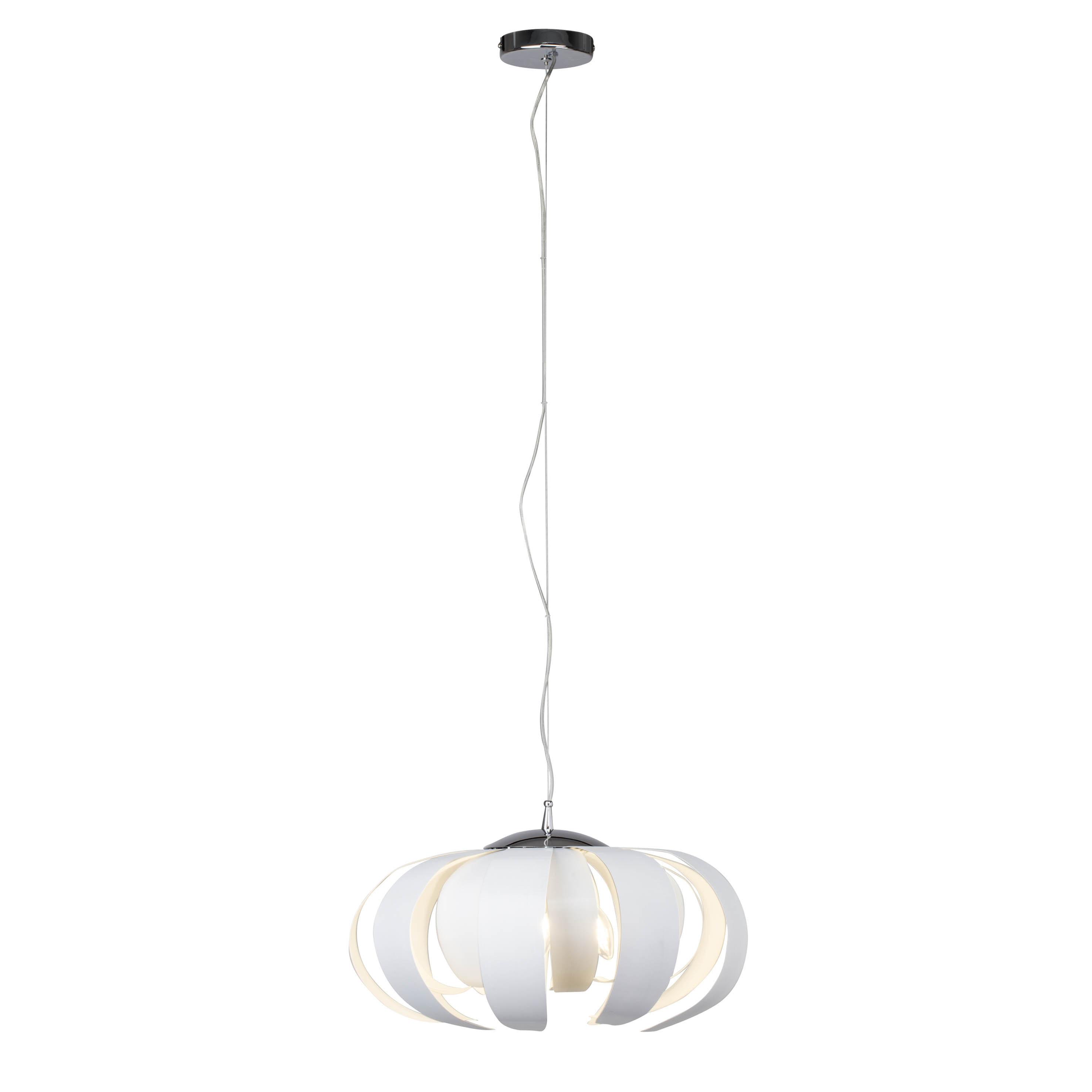 Brilliant Leuchten Ancoli Pendelleuchte 50cm weiß/gewischt