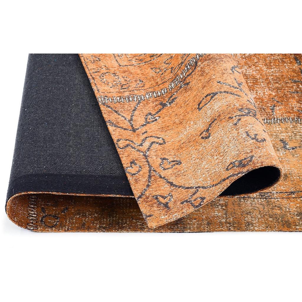 GALLERY M Teppich »Patch«, rechteckig, 5 mm Höhe, Flachgewebe, Wohnzimmer