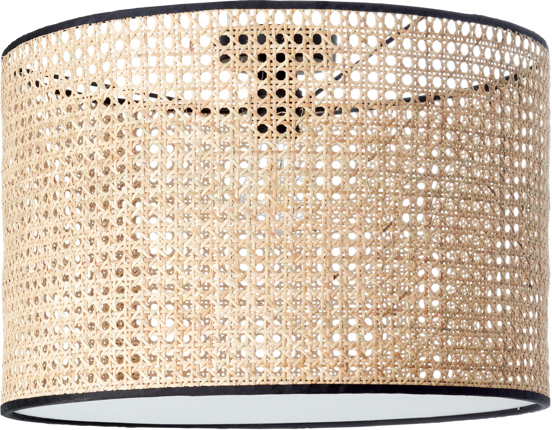 COUCH♥ Deckenleuchte feines Geflecht, E27, 1 St., Deckenlampe mit Wiener Geflecht Schirm Ø 45 cm, Höhe 30 cm, mit Diffusorplatte / Abdeckung an der Unterseite, COUCH♥ Lieblingsstücke