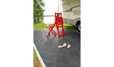 Bergo Flooring Terrassenplatten »Unique Anthrazit«, Kunststofffliesen, einfach ineinanderstecken, 5 m² kaufen