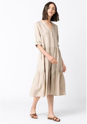 HALLHUBER Volantkleid »Leinenkleid mit Stufenvolants« kaufen