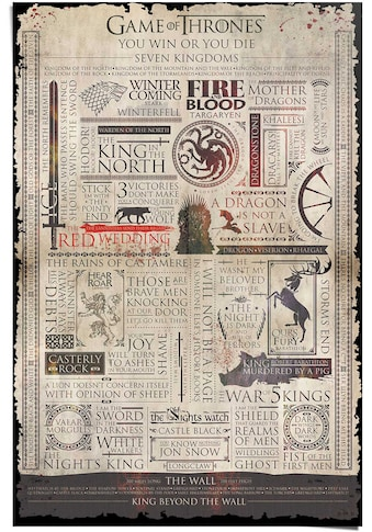Reinders! Poster »Game of Thrones Infografik«, (1 St.) kaufen