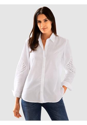 Laura Kent Klassische Bluse, mit elegantem Spitzeneinsatz kaufen